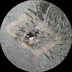 clogged storm drain parking lot